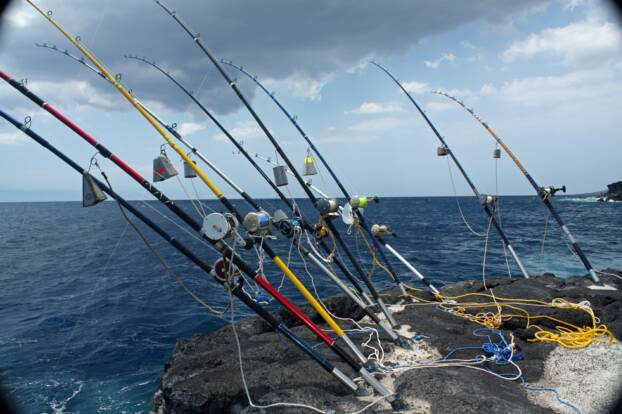 Ulua gyotaku for Fishing big island hawaii